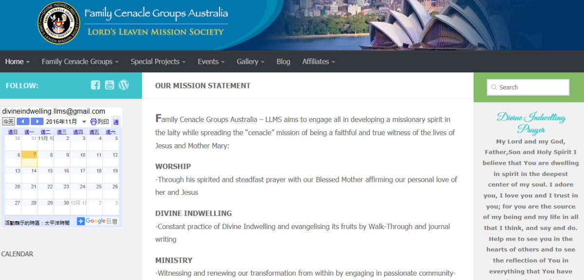 New website: Family Cenacle Groups Australia - LLMS